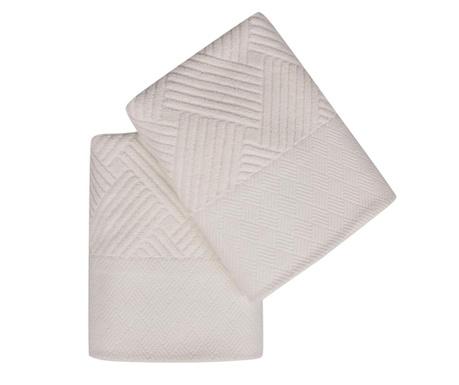 Set 2 kupaonska ručnika Esse Bordur Ecru 50x90 cm
