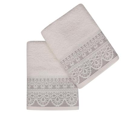 Set 2 kupaonska ručnika Elif Cream 50x90 cm