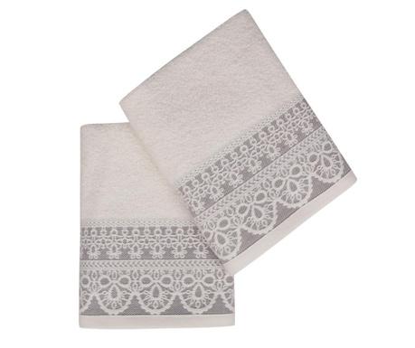 Комплект 2 кърпи за баня Elif Purple 50x90 см