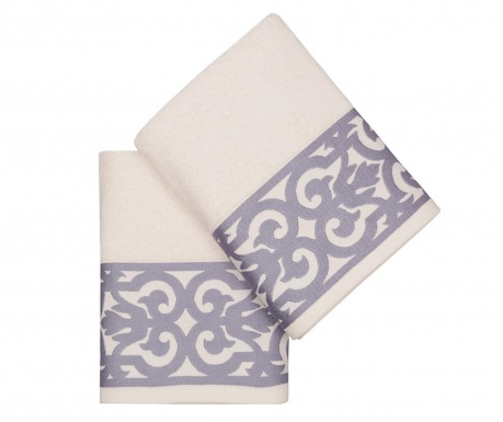 Sada 2 ručníků Monaco Lilac 50x90 cm