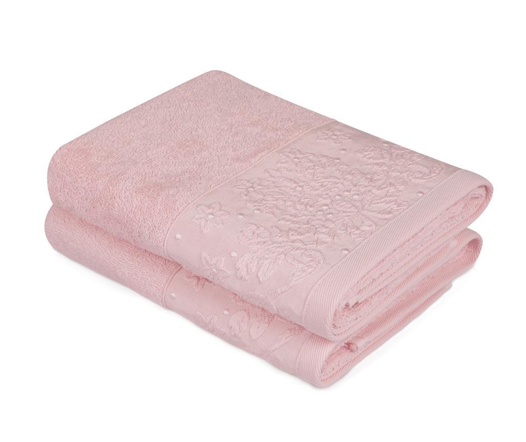 Saltanat Pink 2 db Fürdőszobai törölköző 50x90 cm