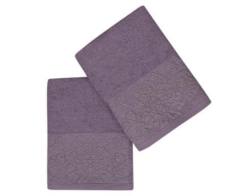 Комплект 2 кърпи за баня Saltanat Purple 50x90 см