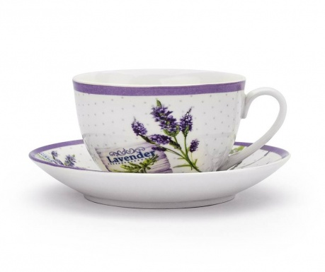 Lavender France Csésze és kistányér