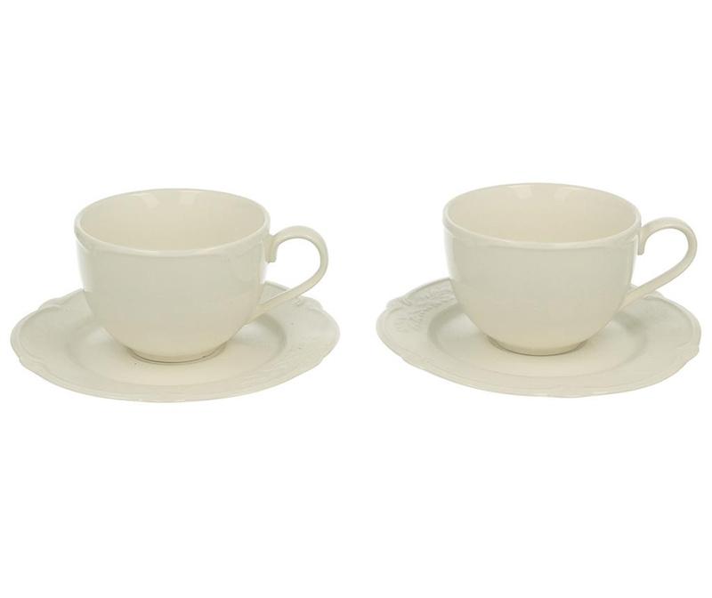 Set 2 skodelic in 2 krožničkov Luxury Classic