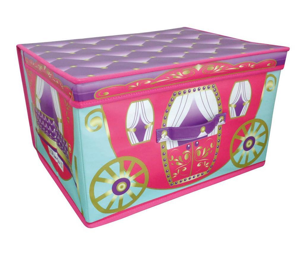 Škatla za shranjevanje igrač s pokrovom Princess Carriage