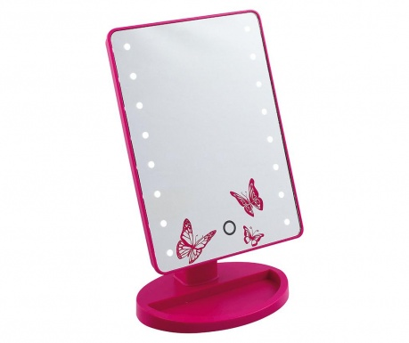 Kozmetično ogledalo z LED sijalko Butterflies