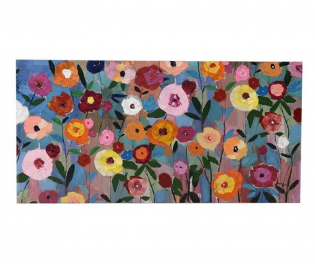 Картина Happy Flowers 60x120 см