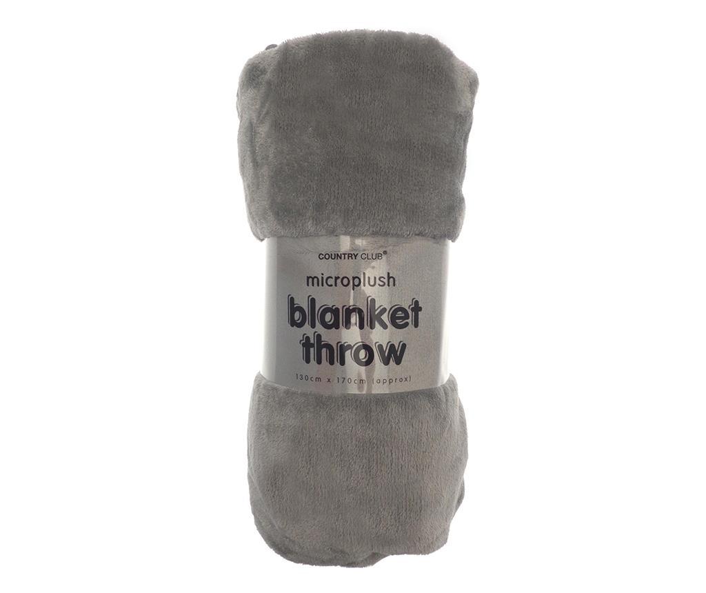 Pokrivač Pompom Grey 130x170 cm