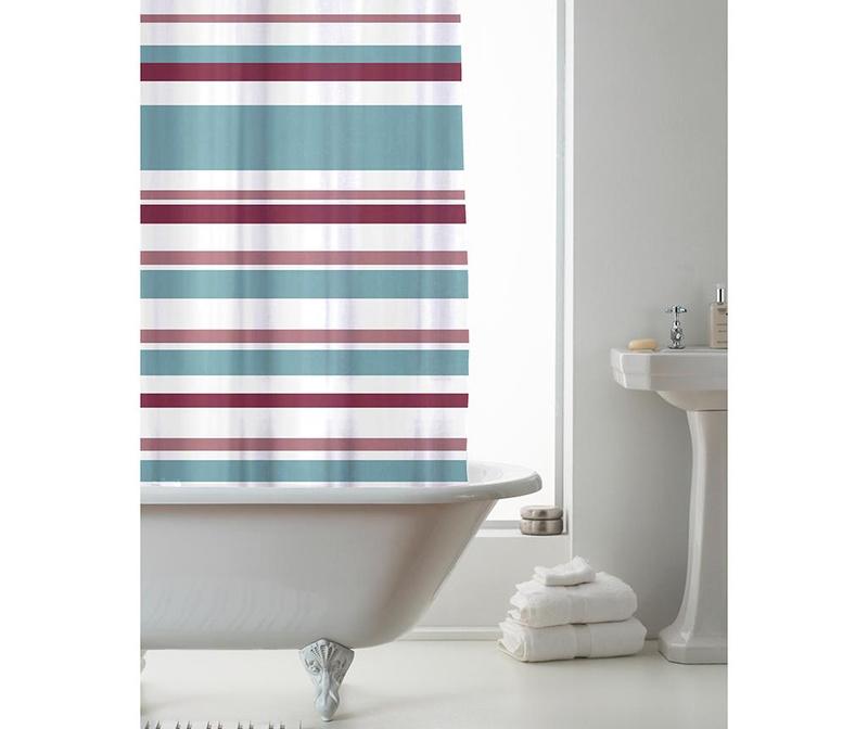 Zavjesa za tuš Ace Stripes Powdered Teal 180x180 cm