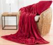 Okrasna blazina Chevron Fleece Red 55x55 cm
