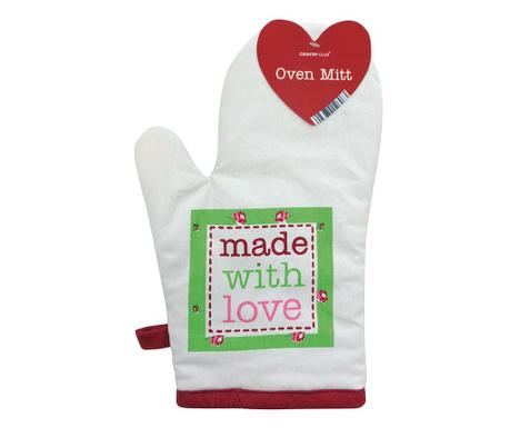 Kuhinjska rokavica Made With Love White