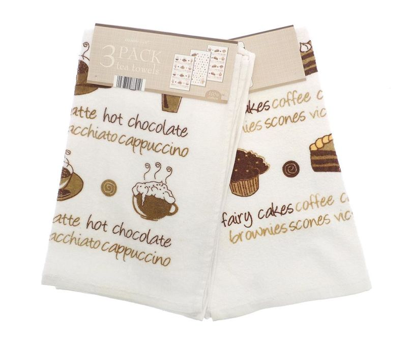 Set 3 prosoape de bucatarie Coffee And Cakes  38x64 cm
