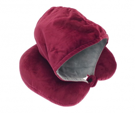 Putni jastuk s kapuljačom Rialta Pink