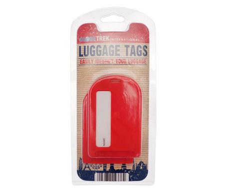 Set 2 oznak za prtljago Leda Red