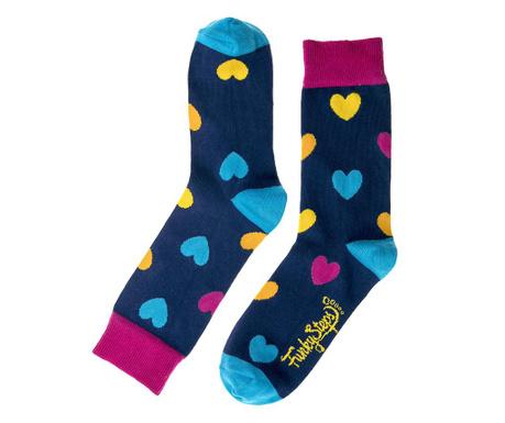 Γυναικείες κάλτσες Navy Hearts 35-39