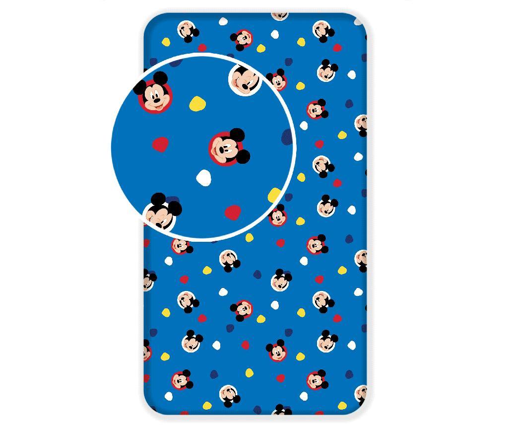 Plahta s elastičnom gumicom Ranforce Mickey Mouse 90x200 cm