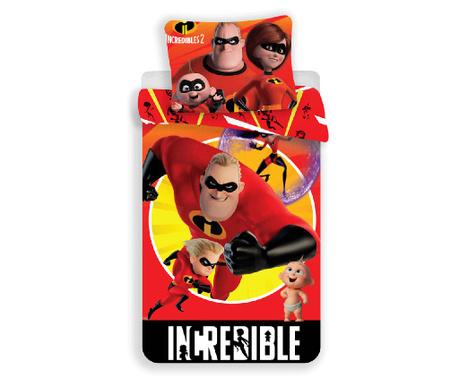 The Incredibles by Disney Egyszemélyes ranforce ágynemű