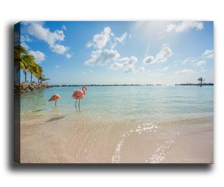 Картина Flamingos on the Beach