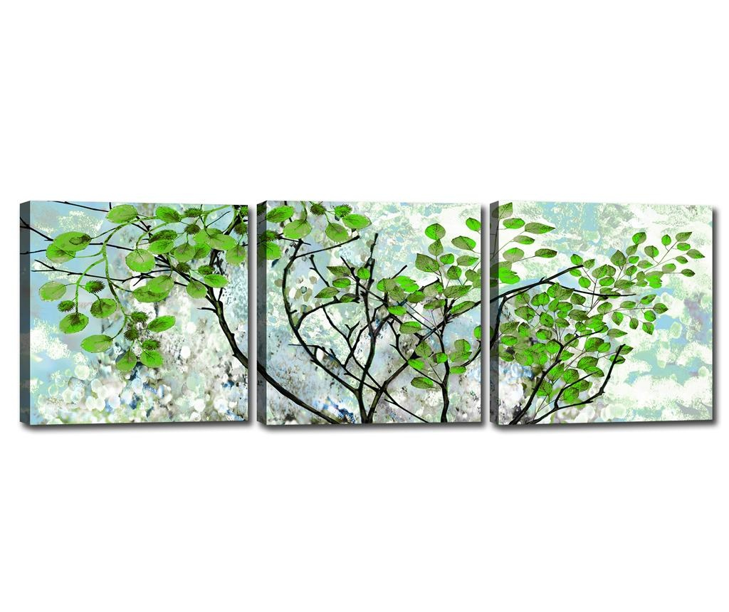 Set 3 tablouri Branches 30x30 cm