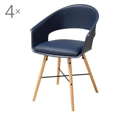Set 4 stolice Ivar Blue