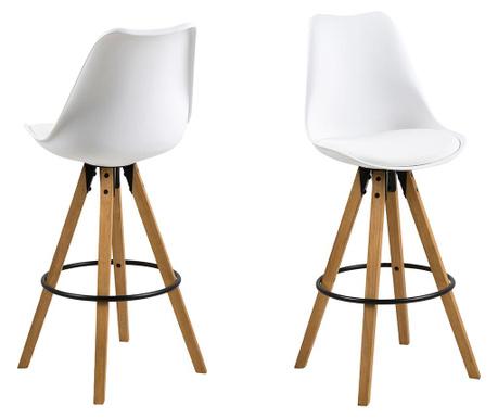 Sada 2 barových židlí Dima White