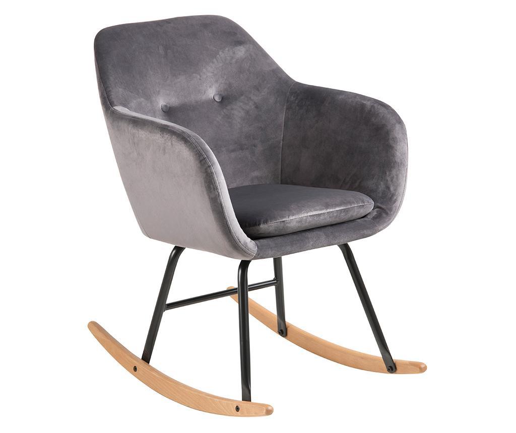 Stolica za ljuljanje Emilia Dark Grey