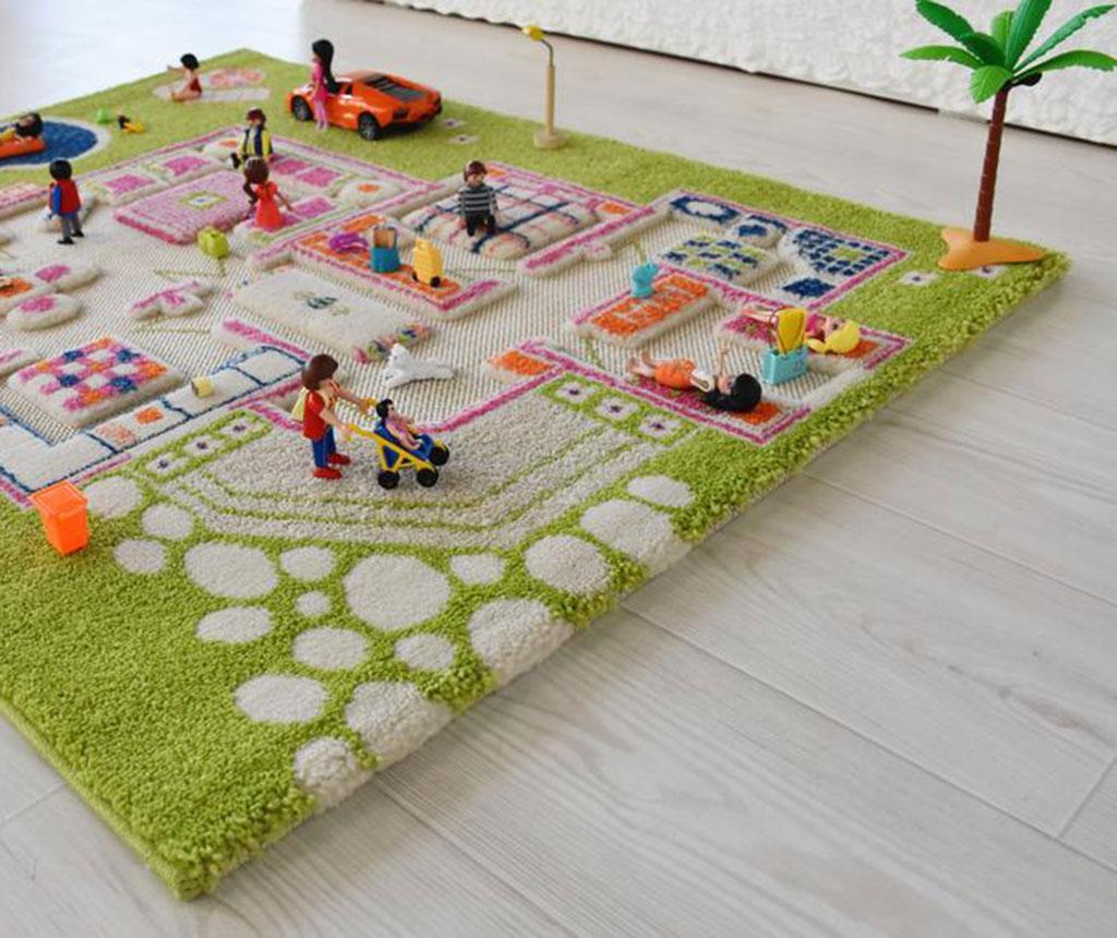 Covor de joaca Playhouse S 3D Green 80x113 cm