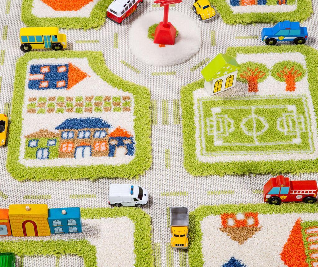 Koberec na hraní Traffic Mini 3D Green 80x150 cm