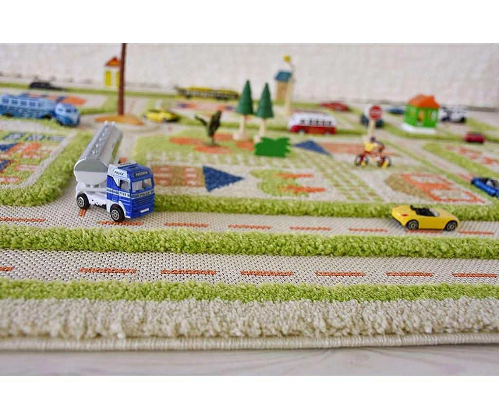 Koberec na hraní Traffic Middle 3D Green 100x150 cm