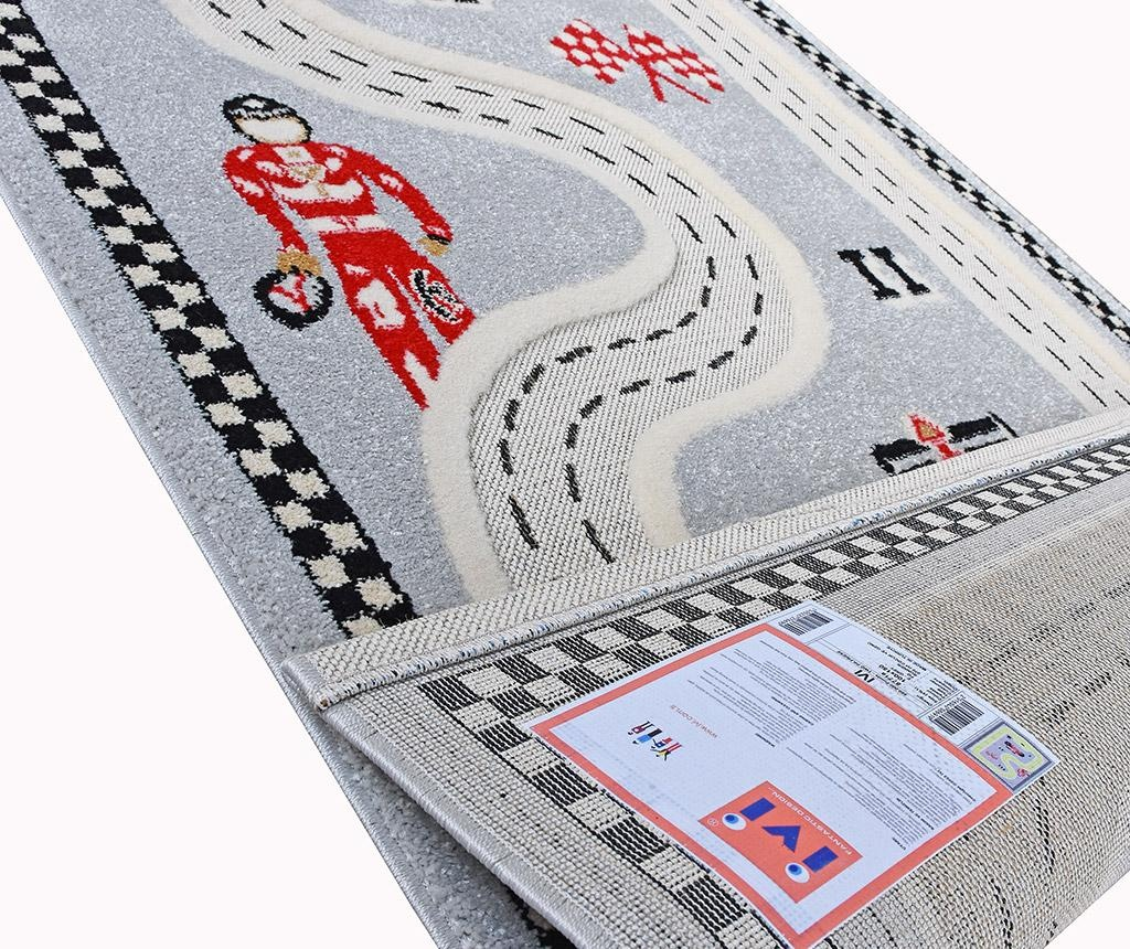 Racer 3D Grey Játszószőnyeg 134x180 cm