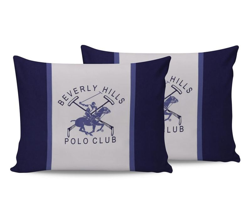 Set 2 fete de perna Beverly Hills White Blue 50x70 cm