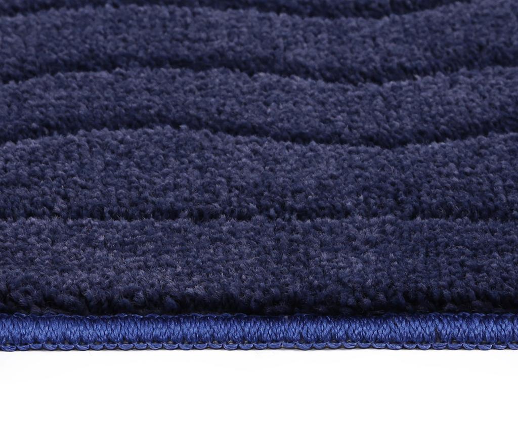 Covoras de baie Gouadeloupe Dark Blue 67x120 cm