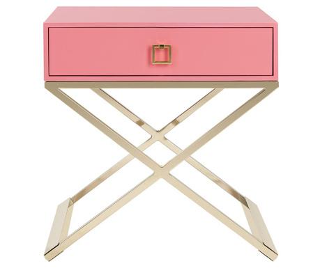 Stolik z 1 szufladą Harlow Pink