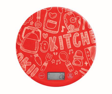 Cantar digital de bucatarie Ponty Red