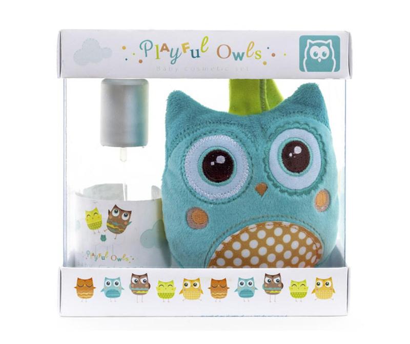 Set apa de colonie si jucarie de plus Playful Owls