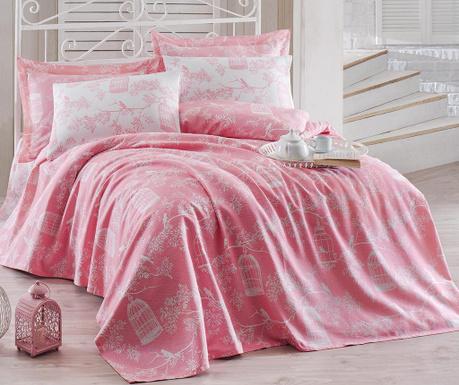 Lenjerie de pat Double Pique Samyeli Pink