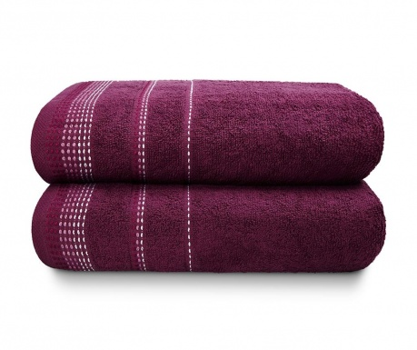 Zestaw 2 ręczników kąpielowych Berkley Mulberry 90x140 cm