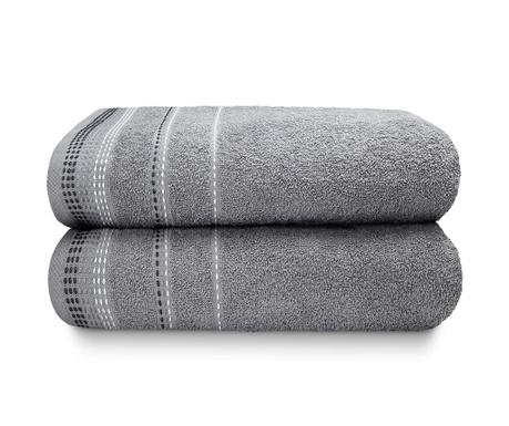 Zestaw 2 ręczników kąpielowych Berkley Silver 90x140 cm