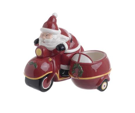 Vas decorativ cu capac Scooter Santa