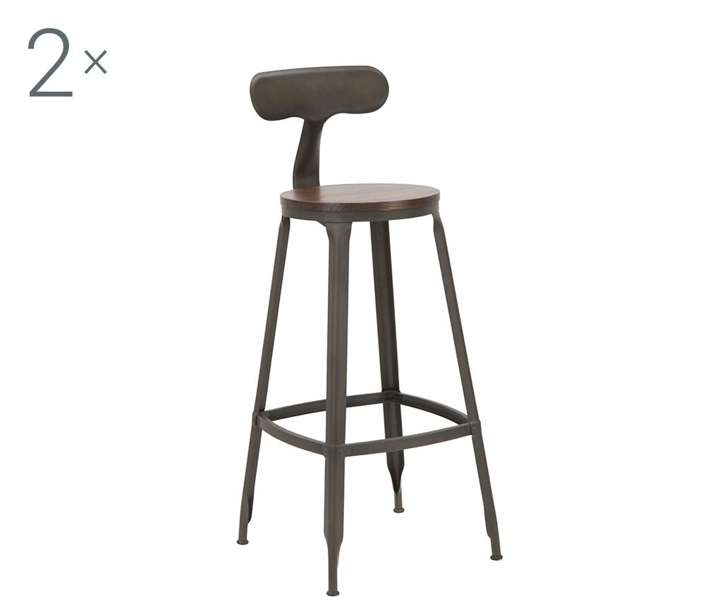 Sada 2 barových židlí Harlem Hector