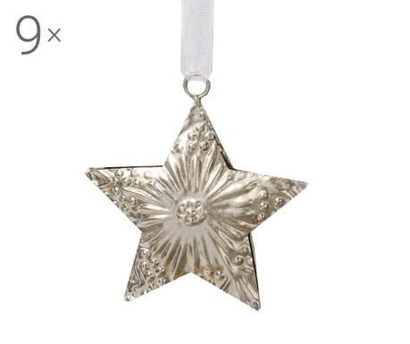 Σετ 9 κρεμαστά διακοσμητικά Weihnachten Star