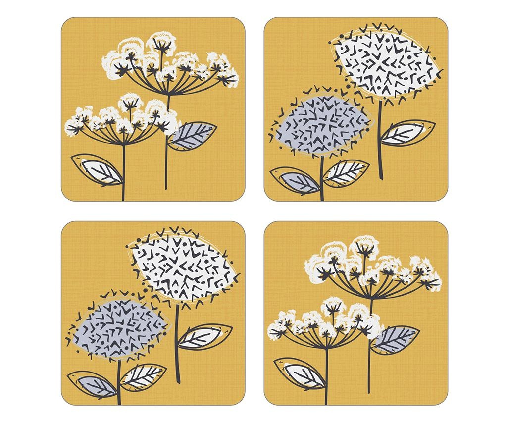 Set 4 coastere Retro Meadow