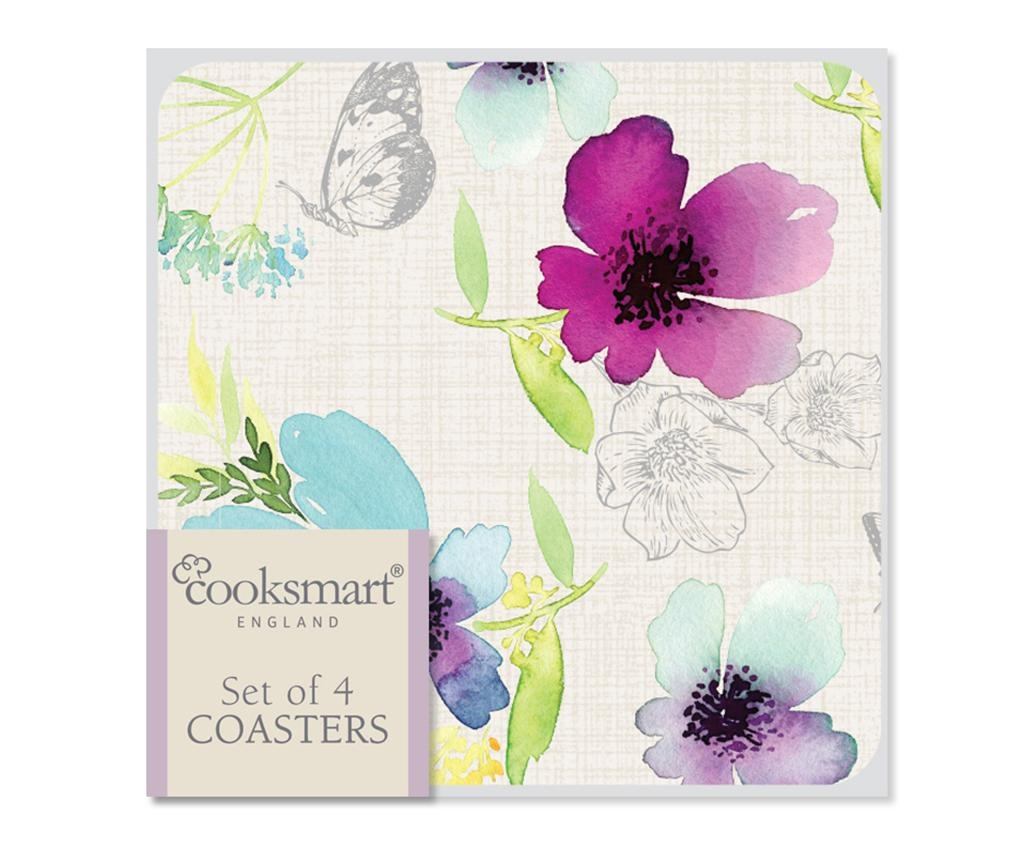 Set 4 coastere Chatsworth Floral