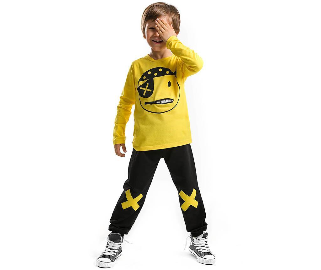 Set bluza si pantaloni pentru copii Pirate Emoji 2 ani