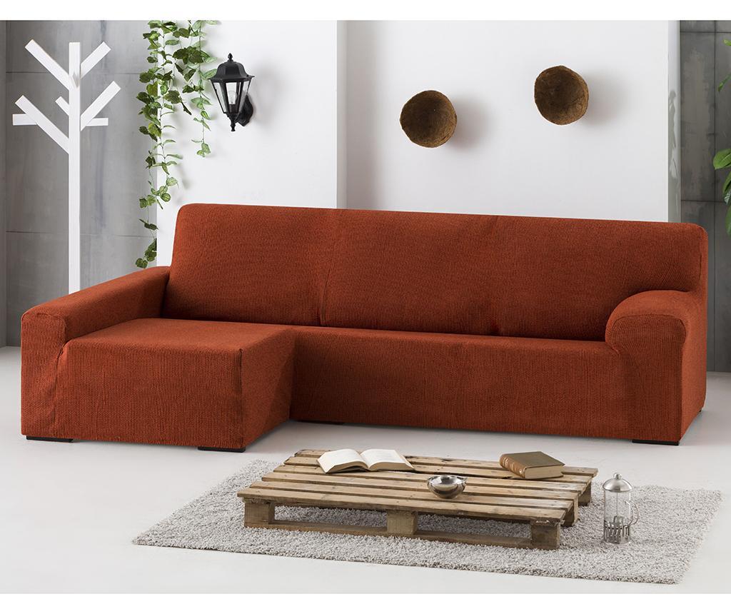 Husa elastica pentru coltar stanga Dorian Dark Orange