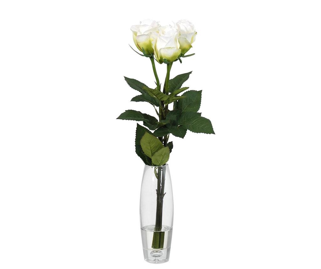 Set 3 flori artificiale in vaza Trio Rose