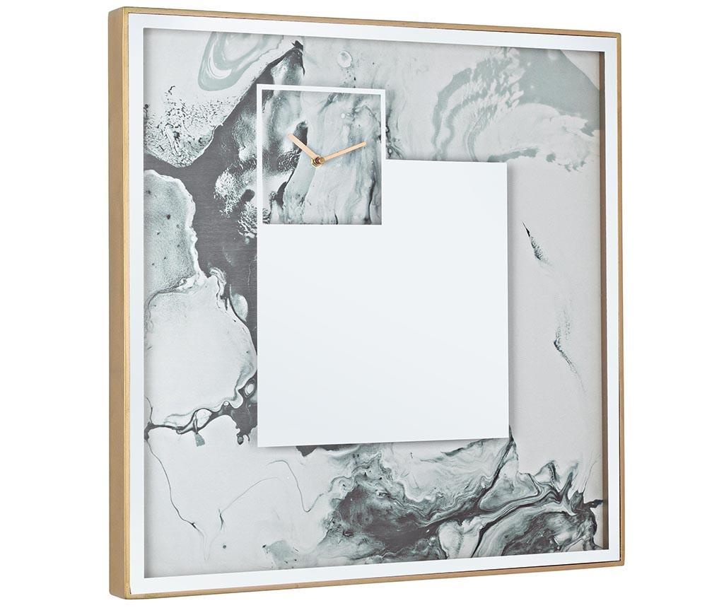 Tablou cu ceas Glace Abstract 60x60 cm