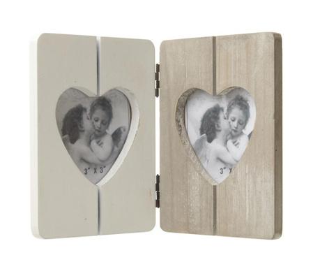 Ramka na 2 zdjęcia Double Heart