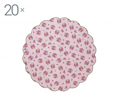 Set 20 papirnatih ubrusa Scaloped Florals
