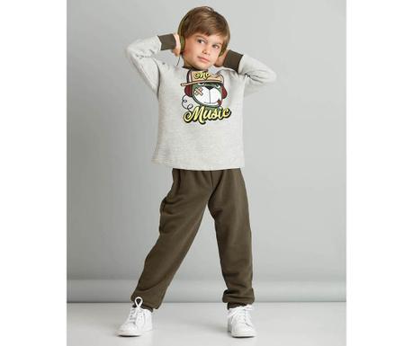 Set bluza si pantaloni copii More Music 3 ani
